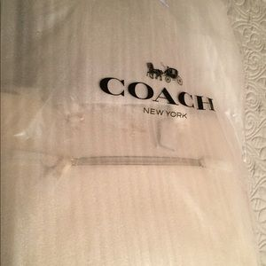 New with tags Coach Gallery tote in chalk color .